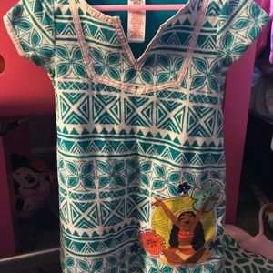 Disney store Moana swim suit and cover up
